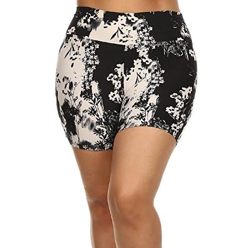 E4U Popular Multicolored Print American Plus Size Mini Shorts