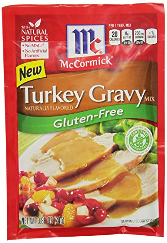 McCormick Gluten Free Turkey Gravy Mix 088 Oz Pack of 12