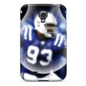 Shock Absorbent Hard Cell-phone Cases For Samsung Galaxy S4 (HUT18711flwM) Custom Vivid Indianapolis Colts Image