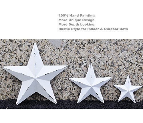Cheap  YL Crafts - Metal Star Wall Decoration Mounted Wall Art 3pcs/set (White)