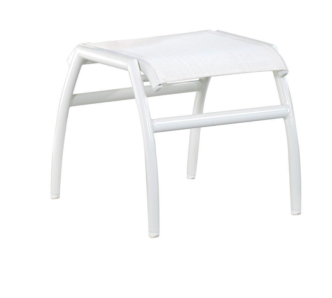Gartenhocker Frisco Farbe: Weiß