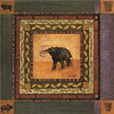 Oil Painting 'an Elephant' Printing On High Quality Polyster Canvas , 8x8 Inch / 20x20 Cm ,the Best Kitchen Decoration And Home Artwork And Gifts Is This High Quality Art Decorative Canvas Prints