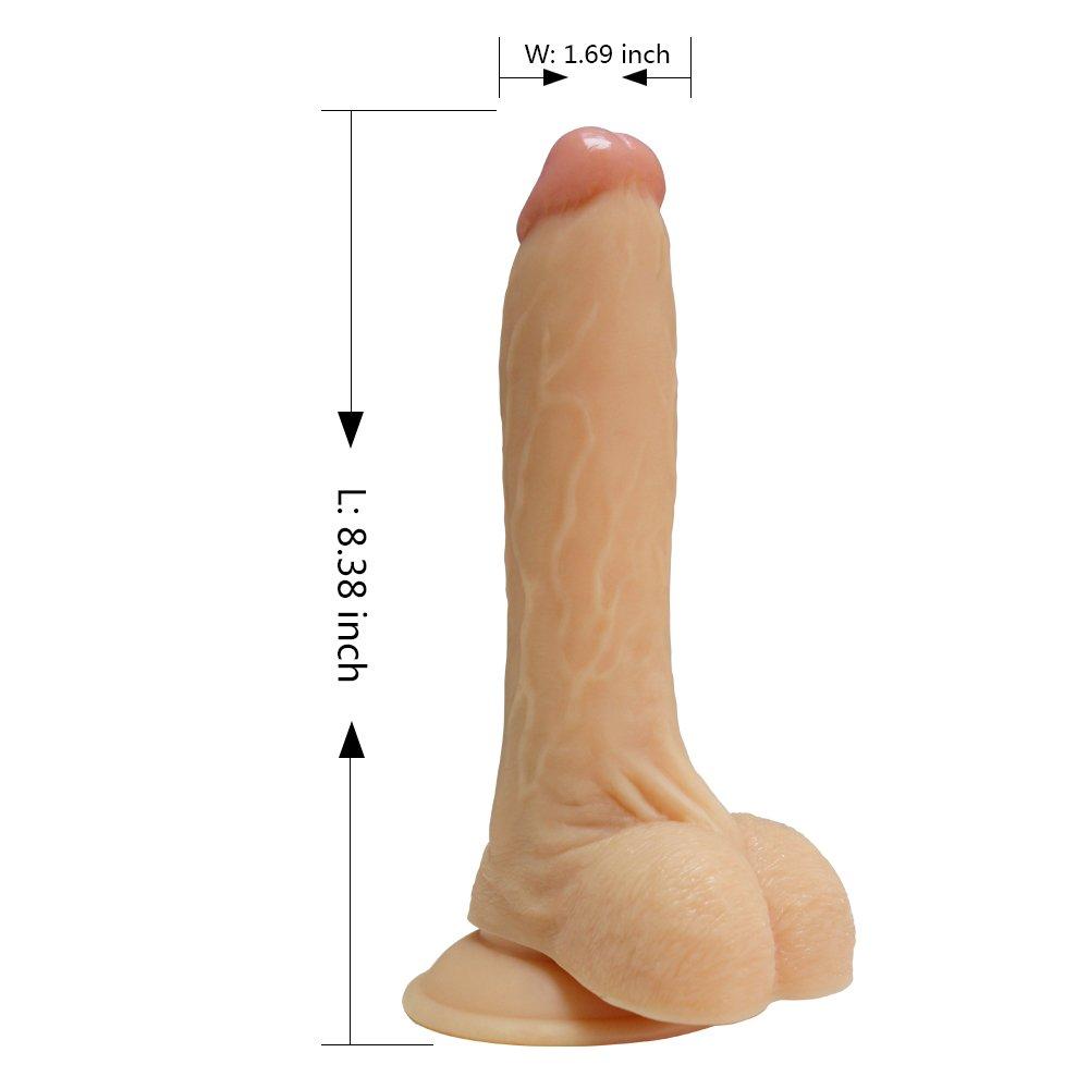 LoNHTwhp 10 Emulational Dildo Vibrador con 10 LoNHTwhp Modos Vibra el juguete del sexo para las mujeres baratos con la base de la succión Style-1 da923a