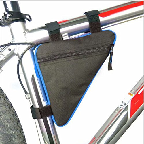 BEALTUY Bike Bag, Sport Bicycle Storage Bag, Triangle Saddle Frame Strap-On Pouch for Cycling,ZXCB01-Black Blue