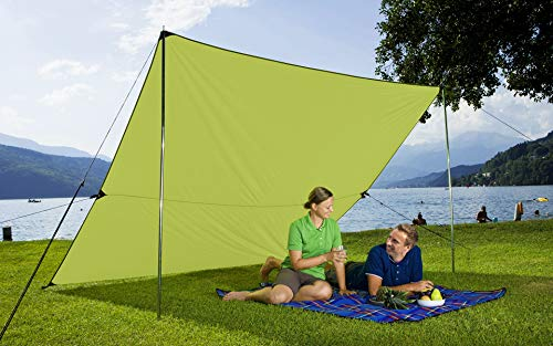 51N5LG0Q7uL Berger Tarp grün, in verschiedenen Größen, Sonnenschutz für Garten Terasse Camping und Strand