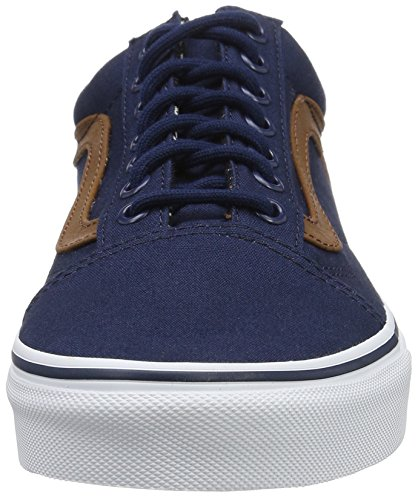 C Material da Skool Basse Blues L Uomo Old And Scarpe Ginnastica Vans Mix Blu Dress UA 6wqHzz