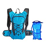 Odowalker Hydration Backpack With 2L Water Bladder-10L big Capacity Water Backpack and 2L Leakproof Water Bag Pouch Reservoir for Men Women Kids for Running,Hiking,Cycling and More