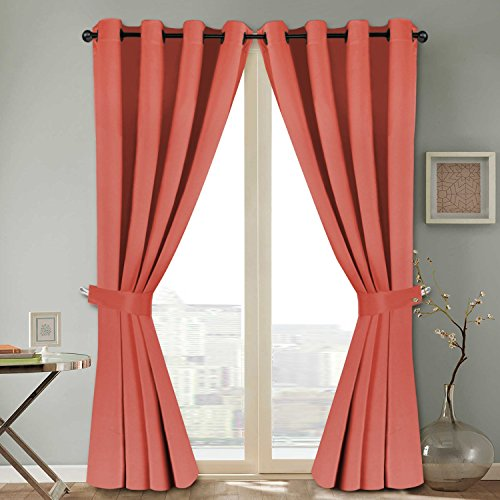 t Curtains Panels Window Thermal Insulated Energy Smart Drapes Draperies Living Room (2 Panels 52