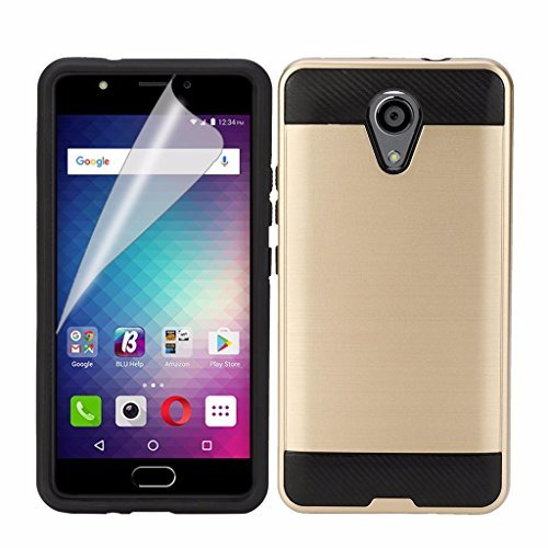 BLU Life One X2 L0090UU Cellphone Case , {NFW} [Tough Hybrid][Armor][Shockproof][Dual Layer][Drop Protection] (VGC Gold)