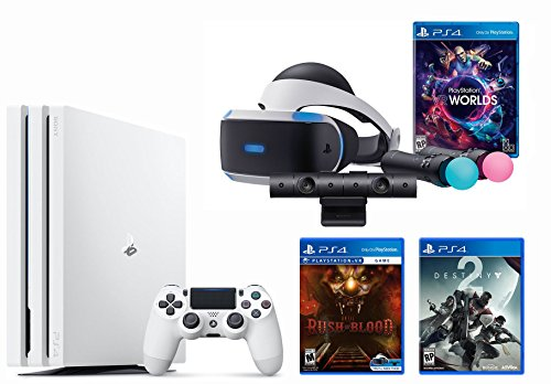 PlayStation VR Launch Bundle 3 Items:VR Launch Bundle,PlayStation 4 Pro 1TB Destiny 2 Bundle, VR Game Disc Arkham VR by Sony VR