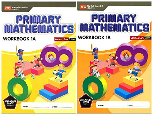 Primary Mathematics Workbook Bundle 1A+1B (Common Core Edition)