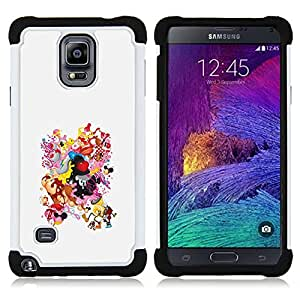Dragon Case- Dise?¡Ào de doble capa pata de cabra Tuff Impacto Armor h??brido de goma suave de silicona cubierta d FOR Samsung Galaxy Note 4 SM-N910 N910- BODY DRAWING SMILEY WOMAN ASS BOOBS