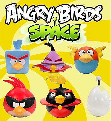 Angry Birds Space Mash Ems Series 2 Complete Set of All 6 Mashems Figures in Blind Capsules