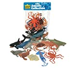 Wild Republic Polybag Aquatic, Octopus, Shark, Dolphin, Orca, Crab, Lobster, Blue Whale, Stingray, Squid, Harp Seal, & Walrus, Gifts For Kids, 11Piece Set