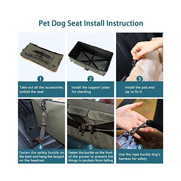 51N5Mrd QWL Petsfit Haustier - Autositz mit Sicherheitsgurt - Sicherheit und Komfort für Reisen - Maschinenwaschbare…