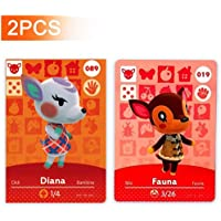No.19 Fauna & No.89 Dina Animal Crossing Amiibo Cards Series 1. Third Party NFC Card. Water Resistant - 2pcs