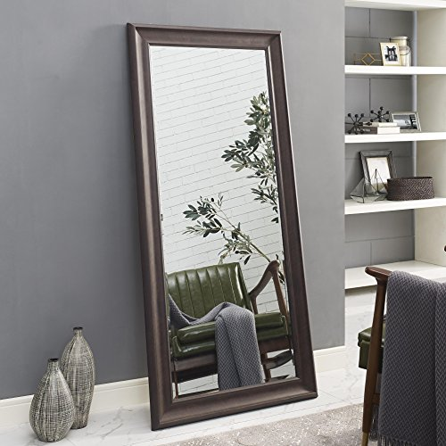 Naomi Home Framed Floor Mirror Espresso/65 x - Modern Mirrors Wooden For Chunky Bathroom