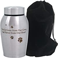 ENBOVE Funeral Cremation Urns for Dogs Cats, in Loving Memory Gone but Not Forgotten You Left Paw Prints on My Heart