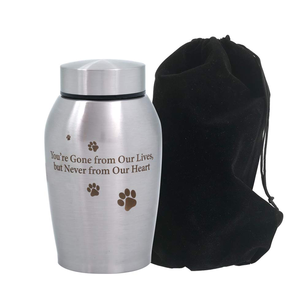 ENBOVE Funeral Cremation Urns, Ash Urns for Dogs, Cats and Other Pets, in Loving Memory Gone but Not Forgotten You Left Paw Prints on My Heart by ENBOVE