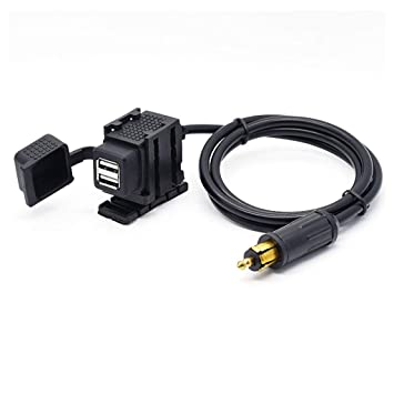 motorcycle din hella socket dual usb charger