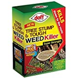 Doff 80ml Tree Stump and Tough Weedkiller (Pack of 2 Sachets)