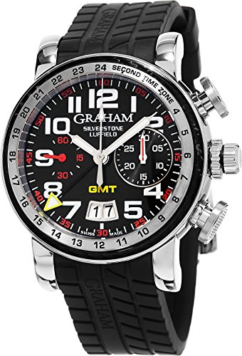 Graham Men's Swiss Automatic Stainless Steel and Rubber Casual Watch, Color:Black (Model: 2GSIUS.B08A.K07)
