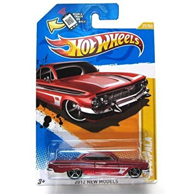 Hot Wheels 2012 New Models '61 Impala 37 of 50 Red: Toys & Games