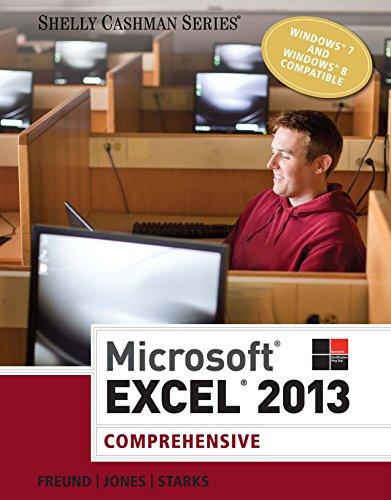 Microsoft Excel 2013: Comprehensive (Shelly Cashman) Pdf