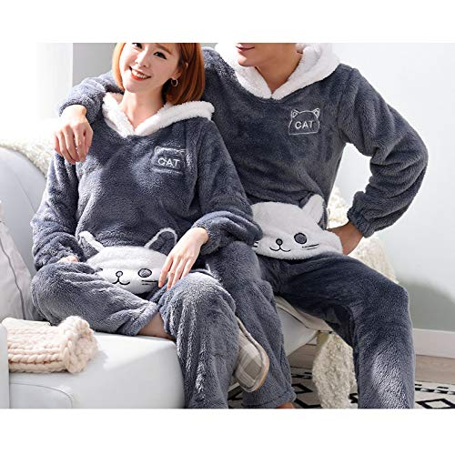 Home Lovers Service Men's Warm female Sy Cute Fleece Coral a amp;s Plus Autumn Winter l Thickening Y winter Pajamas Suit xl And Sleeves Long Velvet xwqYTUOF