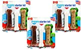 (3 Packages) Nylabone Just For Puppies Starter Kit Bone Puppy Dog Chew Toys, 3 Bones per Package
