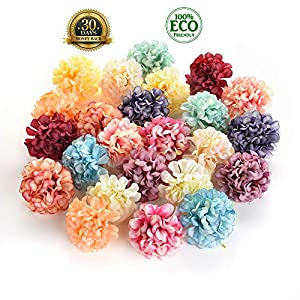 silk flowers in bulk wholesale Fake Flowers Heads Artificial Silk Rose Flower Head Wedding Home Decoration DIY Scrapbooking Handmade Craft Accessories Fake Flowers 30pcs 4.5cm (Colorful) 35