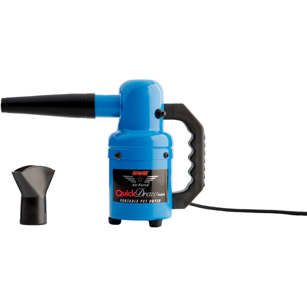 (Black) Metropolitan Vacuum Air Force Quick Draw Mini Pet Dryer