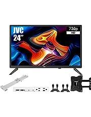 """JVC Televisión 24"""" Class HD (720P) LED TV (LT-24MAW200) + Soporte para Pared y Organizador de Cable (Renewed)"""