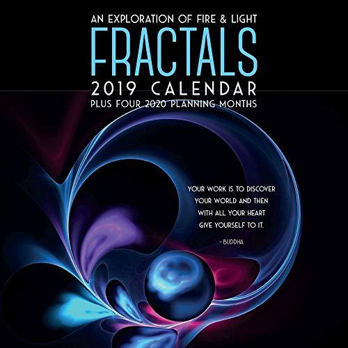 (2019 Fractals 2019 Wall Calendar, Fantasy Art by Brush Dance)
