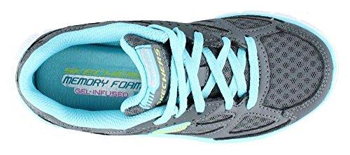 Skechers - Skech - 81895LCCLB - Color: Celeste-Gris - Size: 30.0