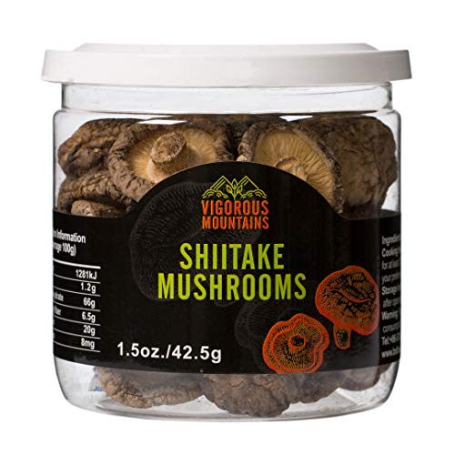 VIGOROUS MOUNTAINS Dried Shiitake Mushrooms 1.5 Ounce Shitake Mushroom