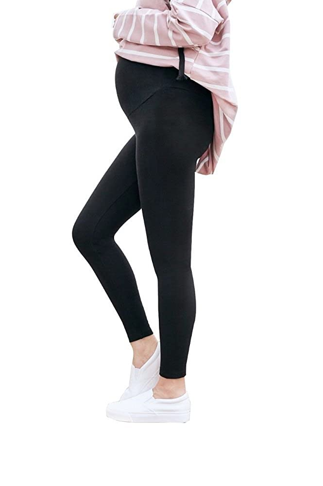 abe5f792acdf4a Amazon.com: Uniform Cotton Over-the-Belly Maternity Leggings for Pregnant  Women   Maternity Pants for Pregnancy : Clothing