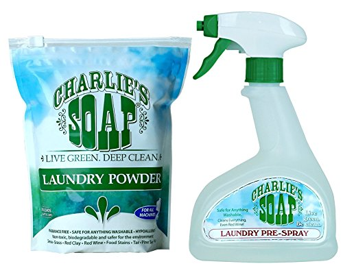 - Charlie's Soap - Laundry Powder & Laundry Pre-Spray, 16.9 Ounce