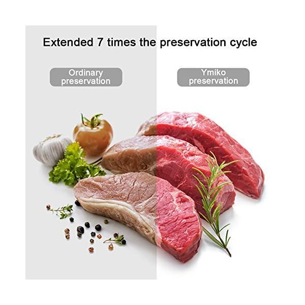 Macchina Sottovuoto per Alimenti, Ymiko Professionale Sigillatrice Sottovuoto Alimenti Portatile Macchina Sigillatrici… 3 spesavip