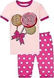 Girls Pajamas Pink Lolly Pj Shorts Set Cotton Summer Cozy Loungewear Kit Size 6