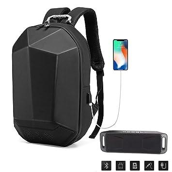 Mochila con altavoz lzx y mochila de carga portátil Altavoces Bluetooth incorporados, cargador USB portátil, funda protectora para computadora portátil, ...