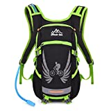 Vbiger Hydration Pack with 2 L Water Bladder Water Resistant Backpack for Hiking, Cycling, Running, Climbing (Green) For Sale