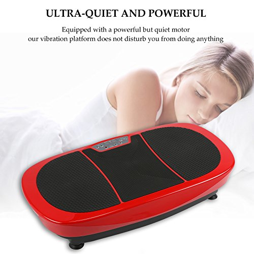 Z ZELUS 3D Fitness Whole Body Vibration Platform Machine - 400W Dual Motors Vibration Plate Crazy Fit Massage Exercise Machine with Remote Control & Resistance Bands(Red) by Z ZELUS (Image #7)