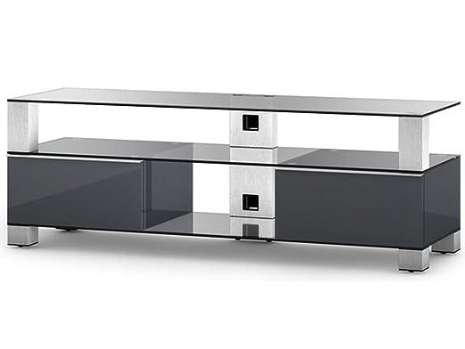 SONOROUS md9140cinxgrpff - Mueble TV Cristal/Aluminio 49 x 140 x ...