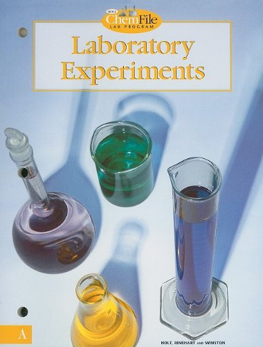 Holt Chemistry: Laboratory Experiments