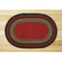Earth Rugs 04-238 Oval Rug, 3 x 5, Burgundy/Olive/Charcoal