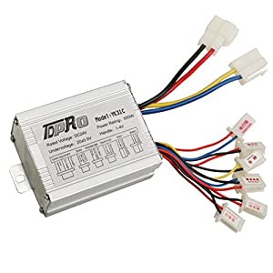 JCMOTO 24V 500W Brush Speed Motor Controller for Electric Scooter Bicycle e Bike Tricycle