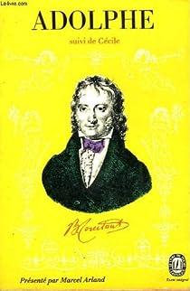 Adolphe suivi de 'Cécile' par Constant