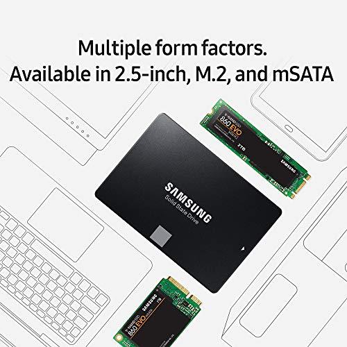 SAMSUNG 250GB 860 EVO Series mSATA SATA III 3D NAND Internal Solid State Drive (SSD) MZ-M6E250BW