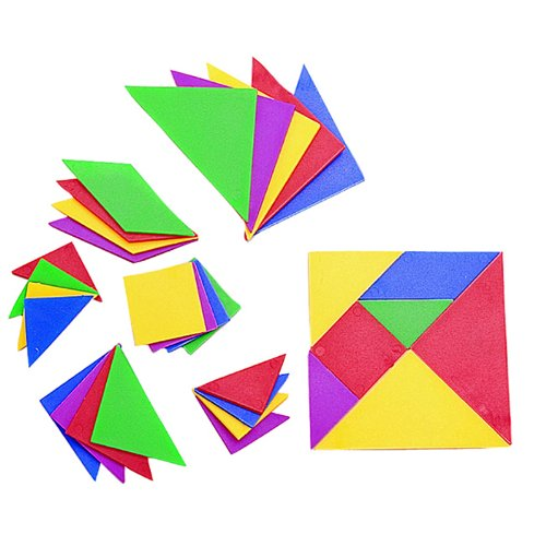 Tangrams 28 Piece Set by Learning Advantage (Plastic Tangram)